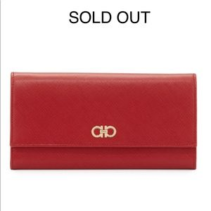 Salvatore Ferragamo Red Double Gancio Mini Bag